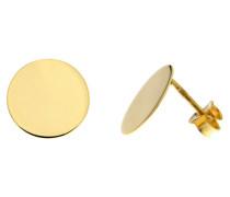 Ohrringe, Gold 375, runde Form