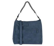 "Handtasche ""Hella"", Lederimitat, Metall-Details, Blau"