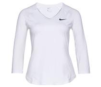 """Tennisshirt """"Pure"""", 3/4-Arm, DRI-FIT, für Damen, Weiß"""