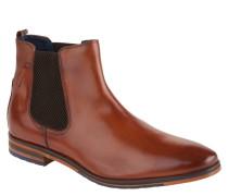 Chelsea Boots, strukturiertes Leder, Ledersohle, Braun