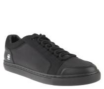 "Sneaker ""Zlov"", klassisches Design, uni, Leder-Optik, Schwarz"