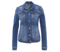 """Jeansjacke """"Thrift"""", Kent-Kragen, tailliert, Brusttaschen, Blau"""