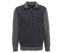 Jacke, zweifarbig, gesteppt, Materialmix, Grau