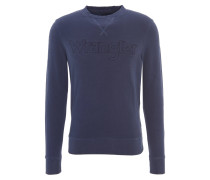 Pullover, Logo-Stickerei, breite Gummizüge, Blau