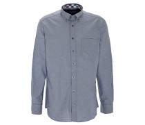 Freizeithemd, Modern Fit, Brusttasche, uni, Blau