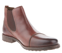 Chelsea Boots, abgesetzte Kappe, Kontrastnähte, Braun