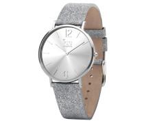 CITY sparkling Damenuhr 015086 - Glitter Silver - Small - 2 Zeiger