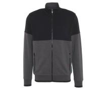 Sweatjacke, Baumwolle, Taschen, Reißverschluss, Grau