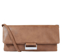 "Clutch ""Be Different"", Lederimitat, Trageriemen, Braun"