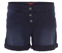 Shorts, Used-Waschung, gerades Bein, Blau