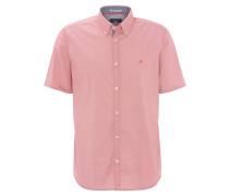 Freizeithemd, Comfort Fit, gepunktet, Button-Down-Kragen, Rot