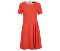 Kleid, Kurzarm, Woll-Anteil, Falten, A-Linie