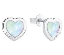 Damen-Ohrringe mit Perlmutt-Herz