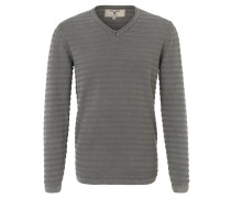 Pullover, Baumwolle, V-Ausschnitt, Grau