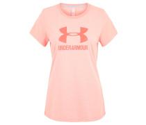 Trainingsshirt, Loose Fit, Print, für Damen, Rosa