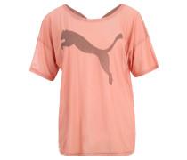 "T-Shirt ""Dancer Drapey"", Mesh, Logo-Print, für Damen, Rosa"