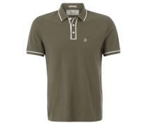 Poloshirt, Brusttasche, Baumwolle, Oliv