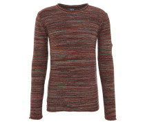 Pullover, Grobstrick, Rollsaum, Baumwolle, Beige