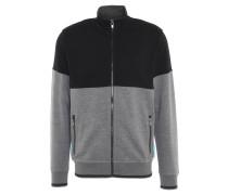 Sweatjacke, Taschen, Reißverschluss, zweifarbig, Grau