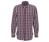 Hemd, modern fit, Karo-Muster, Brusttasche, Baumwolle
