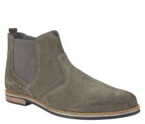 Chelsea Boots, Veloursleder, Reißverschluss, Ziernähte