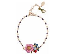 Armband, rosa Blume und Beeren, AFOR202/1
