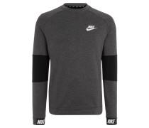 Sweatshirt, zweifarbig, elastische Bündchen, für Herren, Grau