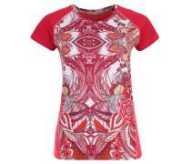 Trainingsshirt, Paisley-Muster, Mesh, für Damen, Pink