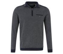 Sweatshirt, Reißverschluss, Stehkragen, Blau