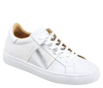 Sneaker, Leder, Metallic-Streifen, Rise Fit
