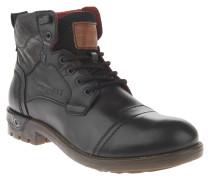 Boots, Leder, Profilsohle, Schwarz