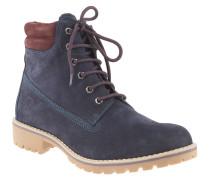 Boots, Leder, gepolsterter Einstieg, Profilsohle, gefüttert, Blau