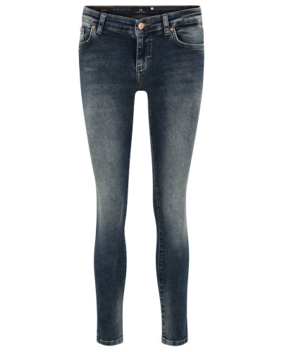 "Jeans ""Mina"", 7/8-Länge, Skinny Fit, Used-Waschung, Stretch"