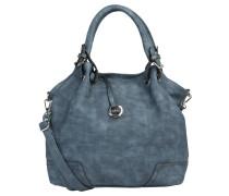 """Handtasche """"Emilia"""", Lederoptik, Anhänger, Blau"""