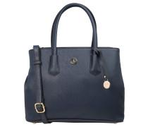 "Handtasche ""Yvonne"", Logoanhänger, Kunstleder, Blau"
