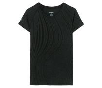 Tshirt Raglan Essentials, Schwarz