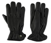 Handschuhe, Leder, Gummizug