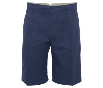 Shorts, einfarbiges Design, Baumwolle, Blau