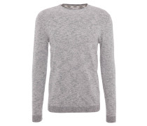 Pullover, meliert, Baumwolle, Grau
