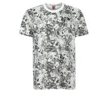 T-Shirt, Print, Baumwolle, für Herren, Weiß