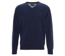 Pullover, V-Ausschnitt, Blau