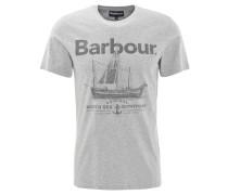 T-Shirt, Print, Baumwolle, Grau
