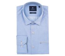 Freizeithemd, Modern Fit, Button Down-Kragen, Brusttasche, Blau