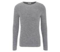 Pullover, Baumwolle, Grobstrick, Grau