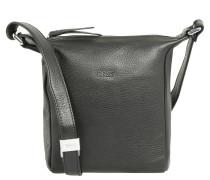 Nola 1, black, ladies' handbag grained, Schwarz