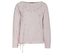 Sweatshirt, Sternen-Muster, Kordelzug im Saum, Rosa