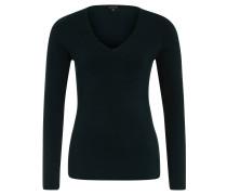 Pullover, Langarm, Feinstrick, V-Ausschnitt, Grün