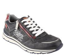 Sneaker, Lochmuster, Print, Reißverschluss, Schnürung