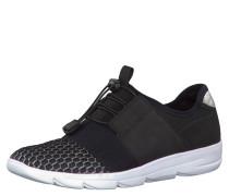 Sneaker, Schnellschnürung, Mesheinsätze, Schwarz