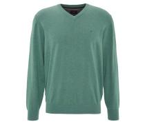 Pullover, V-Ausschnitt, Grün